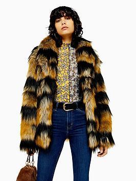 topshop-tiger-stripe-faux-fur-boxy-jacket-multi
