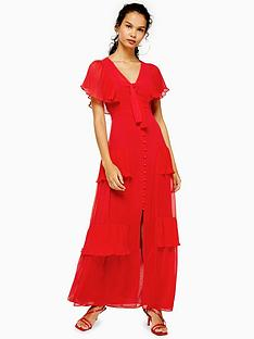 topshop-pleated-maxi-dress-red