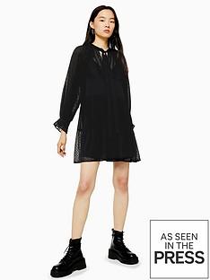 topshop-dobby-dress-black
