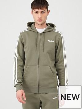 adidas-3-stripes-linear-full-zip-hoodie-greennbsp