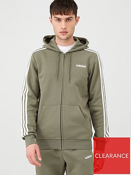 adidas-3-stripes-linear-full-zip-hoodie-greennbsp