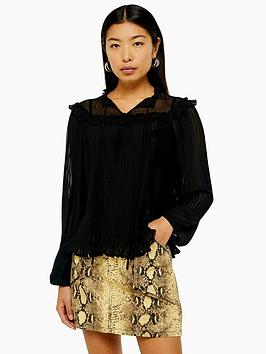 topshop-topshop-pleated-blouse-black