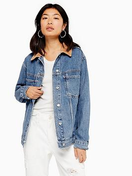 topshop-cord-collar-denim-jacket-mid-stone