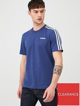 adidas-3-stripe-linear-t-shirt-indigonbsp