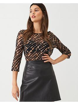 v-by-very-mesh-peplum-printed-top-rust
