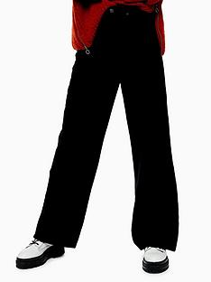topshop-cord-slim-wide-leg-jeans-black