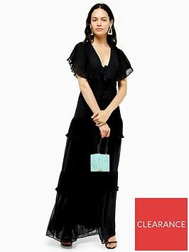 topshop-pleated-maxi-dress-black