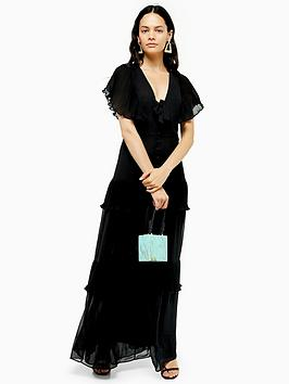 topshop-topshop-pleated-maxi-dress-black