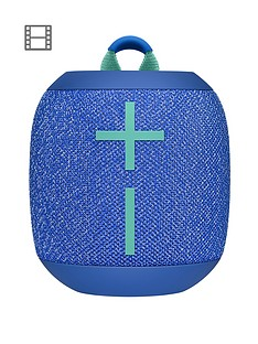 Ultimate Ears Wonderboom 2 Bluetooth Speaker - Big Bass 360 Sound, Waterproof IP67, Floatable, 100 Ft Range, Blue