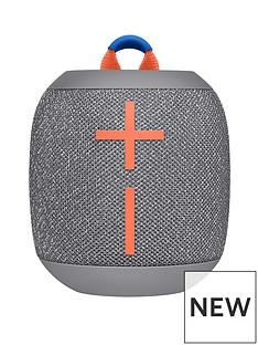 Ultimate Ears Wonderboom 2 Bluetooth Speaker - Big Bass 360 Sound, Waterproof / Dustproof IP67, Floatable, 100 Ft Range, Grey