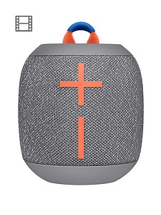 Ultimate Ears Wonderboom 2 Bluetooth Speaker - Big Bass 360 Sound, Waterproof / Dustproof IP67, Floatable, 100 Ft Range, Grey