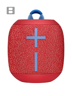 Ultimate Ears Wonderboom 2 Bluetooth Speaker - Big Bass 360 Sound, Waterproof / Dustproof IP67, Floatable, 100 Ft Range, Red
