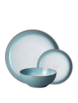 Denby Azure Haze 12 Piece Dinnerware Set