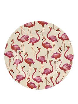 sara-miller-flamingo-melamine-dinner-plates-ndash-set-of-4