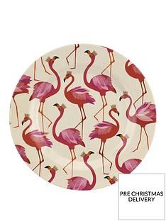 sara-miller-flamingo-melamine-side-plates-ndash-set-of-4