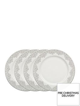 monsoon-denby-filigree-silver-dinner-plates-ndash-set-of-4