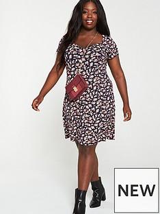v-by-very-curve-sweetheart-neck-jersey-dress-navy-ditsy-print