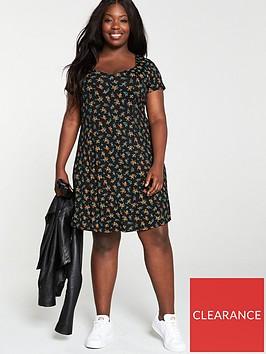 v-by-very-curve-sweetheart-neck-jersey-dress-black-ditsy-print