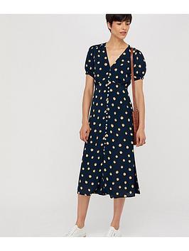 monsoon-percy-spot-print-button-dress