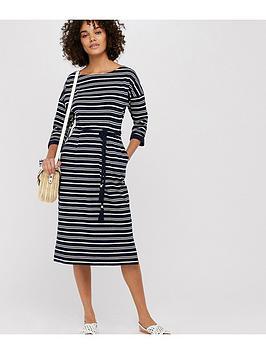 monsoon-monsoon-sandy-stripe-jersey-jacquard-dress