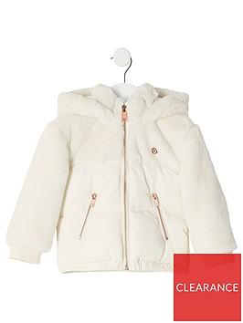 river-island-mini-mini-girls-faux-fur-padded-jacket