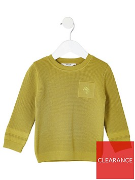 river-island-mini-mini-boys-maison-riviera-knitted-jumper-lime