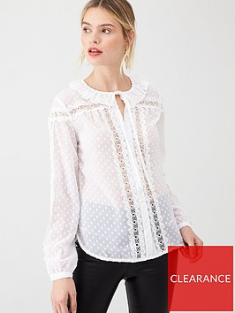 v-by-very-lace-spot-frill-blouse-white