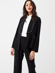 wallis-diamante-trim-jacket-black