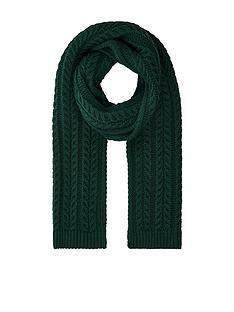 accessorize-cable-knit-scarf-green