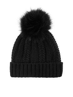 accessorize-luxe-pom-beanie-hat-black