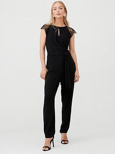 wallis-lace-cap-sleeve-jumpsuit-black