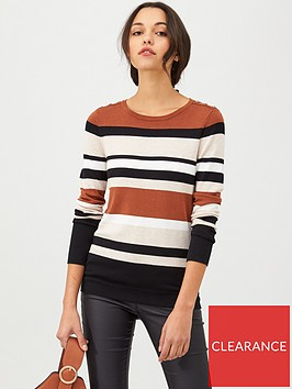 wallis-neutral-stripe-jumper-multi