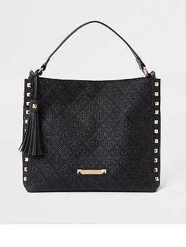 river-island-river-island-embossed-chain-front-slouch-black