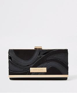 river-island-river-island-swirl-detail-cliptop-purse-black