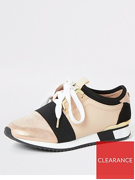 river-island-girls-elasticated-runner-trainers-beige
