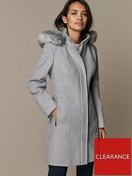 wallis-petite-duffle-coat--nbspgreynbsp