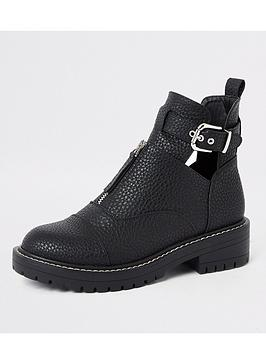 river-island-river-island-cut-out-chunky-buckle-boots-black