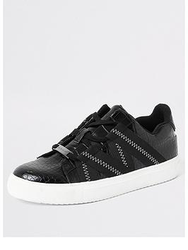 river-island-river-island-croc-tape-detail-trainers-black