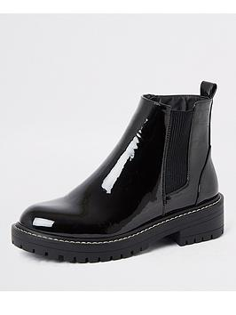 river-island-chunky-patent-ankle-boot