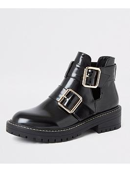 river-island-river-island-cut-out-buckle-chunky-ankle-boots-black