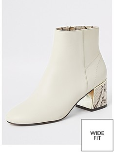 river-island-river-island-wide-fit-heel-contrast-ankle-boot-beige