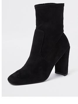 river-island-sock-boot-black