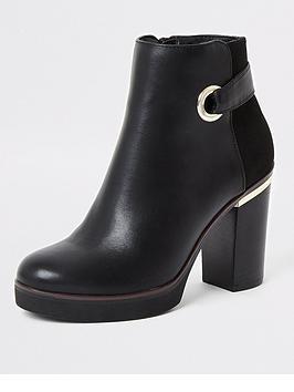 river-island-river-island-eyelet-detail-platform-boot-black
