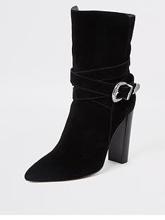 river-island-river-island-suede-western-calf-boot-black