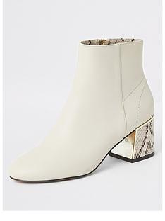 river-island-river-island-contrast-heel-block-heel-ankle-boots-beige