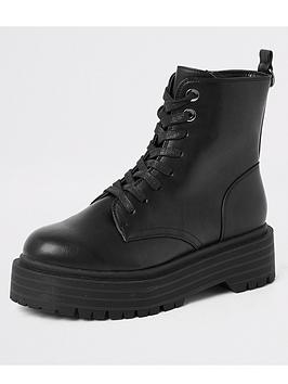 river-island-river-island-chunky-flatform-lace-up-boots-black