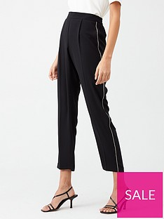 wallis-diamante-trim-trouser-black