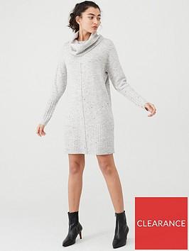wallis-neppy-cowl-neck-jumper-dress-silver