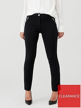 wallis-ponte-trousers-black