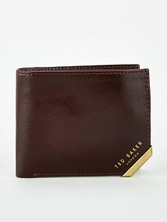 ted-baker-metal-corner-bi-fold-coin-wallet-brown